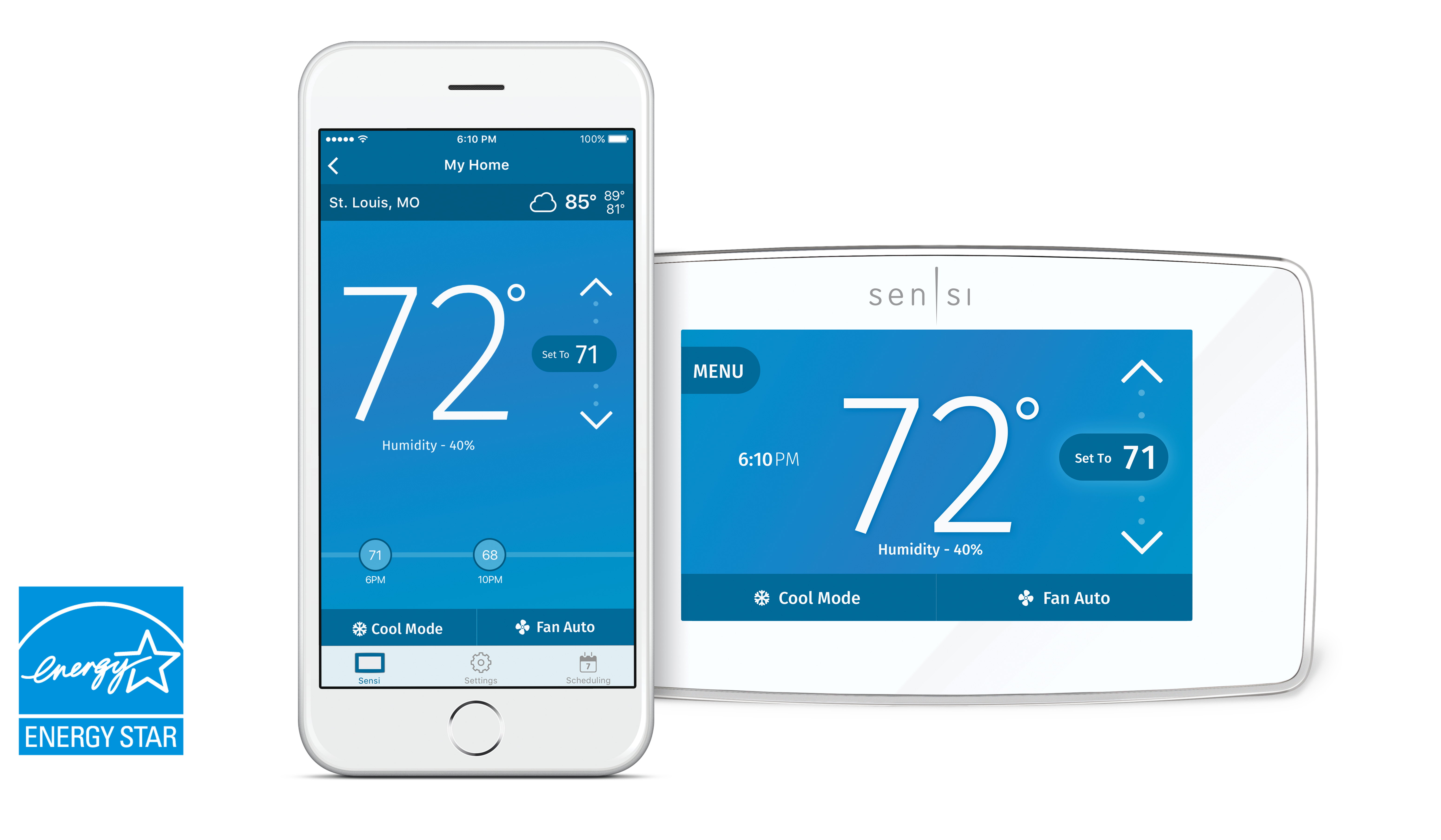Comfort Sentry™ Sensi™ Touch Wi-Fi Thermostat